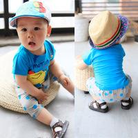2014 infant clothes cartoon graphic patterns boy set children's clothing