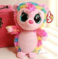 TY big eyes plush toys soft pink  hedgehog doll 15cm 3pcs/set  stuffed animals doll for kids free shipping Beanie Boos