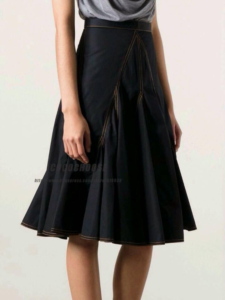 popular jean skirts knee length aliexpress