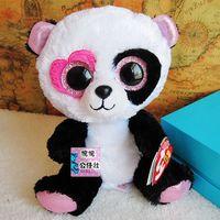 TY big eyed panda doll 15cm 2pcs/set  stuffed animals doll best gift for small children  Beanie Boos