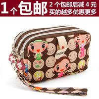 Harajuku doll coin purse women's mobile phone bag day clutch small cosmetic bag large capacity lqb26