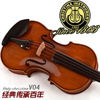 FREE SHIPIPNG DHL Christina tiger violin antique solid wood v04 dull natural ebons handmade adult child