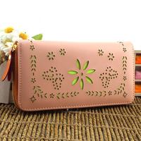 2013 women's long design wallet fresh small wallet day clutch women's handbag wallet cutout wallet