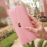 Love 2014 cross diamond long design wallet flip women's wallet