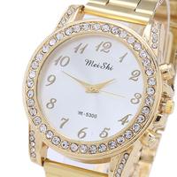 100% High Quality Rhinestone Watches, Stainless Steel Quartz Watch