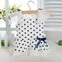 Female child summer all-match sweet polka dot skirt one-piece dress