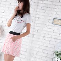 All-match casual culottes fashion polka dot skirt female loose casual pants