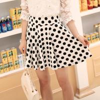 2014 summer ladies short skirt expansion skirt polka dot skirt high-elastic sarong