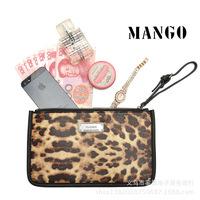 New arrival 2014 wallet clutch leopard print mango wallet  block women's handbag