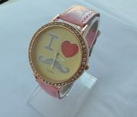 1pcs/lot retail new hot sale 3D soft ceramic fashion beard high quality women girls Crystal diamond brand leather quartz watch
