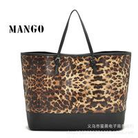 MANGO for Women Sac Fashion brand Leopard Handbag Women mng Shoulder bag Mango Large Tote Bolsas femininas