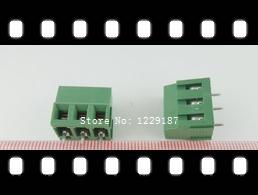 New original 20pcs 3 Pin Screw Terminal Block Connector 5mm Pitch B(China (Mainland))