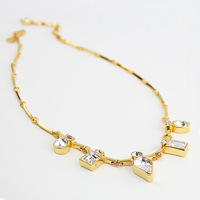 2014 Rushed Real Trendy Pendant Necklaces Women Alloy The Spot New J . Dyrberg Kern Lady Pendant 14k Short Necklace Chain Dk