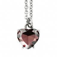 J . lady ! new arrival dyrber ker amethyst heart short necklace of love chain silver dk