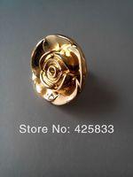 2014 Free Shipping 2pcs Antique Golden Rose Dresser Pulls Flower Knobs Cabinet Furniture Lovely Handle Kitchen Closet  Pulls