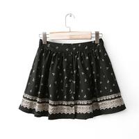 Women's summer 2014 bow print elastic waist bust skirt