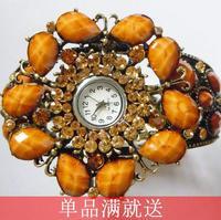 Do not contain electronic Fresh summer bohemia 2014 hot-selling orange alloy bracelet decoration girls watch