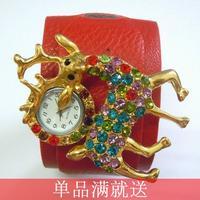 Do not contain electronic 2014 women's bohemia fashion leather bracelet watch