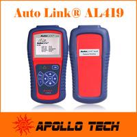 [Authorized Distributor] Auto diagnostic Code Reader Autel AutoLink AL419 Auto Scanner Update Online Multi-Language Autel AL419