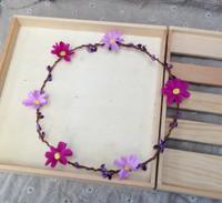 Free Shipping Fresh Resort Seaside Bohemia Aesthetic Flower Bride Garland Wedding Dress Hair accessory