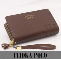 New 2014 Brand POLO High Quality Cowhide Casual Genuine Leather Wallet Men Clutch Fashion men bag handbag WDC1001