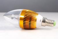 1W E14 85-265V LED Candle Light Bulb LED Chandelier Spot Light Warm/Pure White 12pcs/lot
