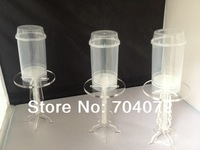 wholesale-free shipping 2014 NEW! 20pcs acrylic push pops holder single pc cake displayer for wedding party birthday party