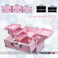 Facebox basic series professional Large portable cosmetics multi-layer nail art makeup cosmetic bag