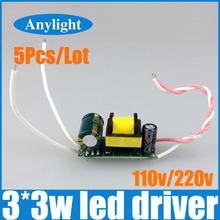 5 pz/lotto 3 x 3 w ha condotto il driver , circa 10 w driver della lampada , 85 - 265 v ( 220 / 110 v ) ingresso per e27 e14 gu10 led lampada WLD16(China (Mainland))