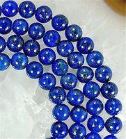 """6mm Natural Blue Lapis Lazuli Round Loose Beads 15 """""""