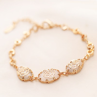 Popular accessories fashion small fresh drop - eye bracelet square rose bracelet