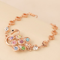 Fashion bracelet female fashion hand  ring jewelry 18k rose gold bracelet