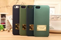 Free shipping MK Luxury Brand phone cases Hard Plastic mobile phone case for iPhone 5 5s back cover case