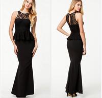 free shipping brand new women party dress black lace sleeveless prom dress sexy slim black women  fashion little dress
