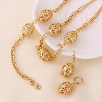 Filigree Magic Olive Bead Ball 18k Yellow Gold GF Necklace Bracelet Earrings SET Free Shipping