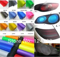 30cm x 100cm Yellow Auto Car Sticker Blue Smoke Fog Light HeadLight Taillight Tint Vinyl Film Sheet Free Shipping