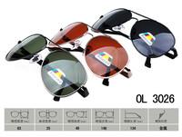 2014 Men Polarizer sun Glasses Fashion UV400 Black Metal Frame Goggles Reduce Glare Men Sun coating sunglasses OL3026