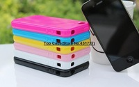 For iPhone 5 5G 5S Candy Color Soft Silicone Flexible TPU Gel Jelly Back Case Cover Skin Shell Free Shipping MOQ20pcs