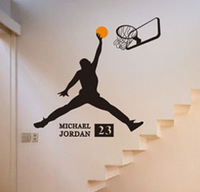 Michael Jordan Play Basket Ball Wall Stickers Super Big Home Decoration Forever MJ With 23 Wall Decal Sport
