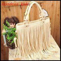 Free shipping fashion punk tassel fringe totes women PU leather handbag new 2014 shoulder bags G002