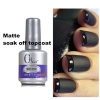 New 15ml Nail Art Soak-Off UV Gel Polish Matte Topcoat  Acrylic Soak Off  Top Coat  Nails Tools Suit  for LED Lamp