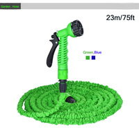 Garden Hose,100FT Hose with gun WATER GARDEN Pipe Green Water valve+ spray Gun With EU or US connector seen on TV
