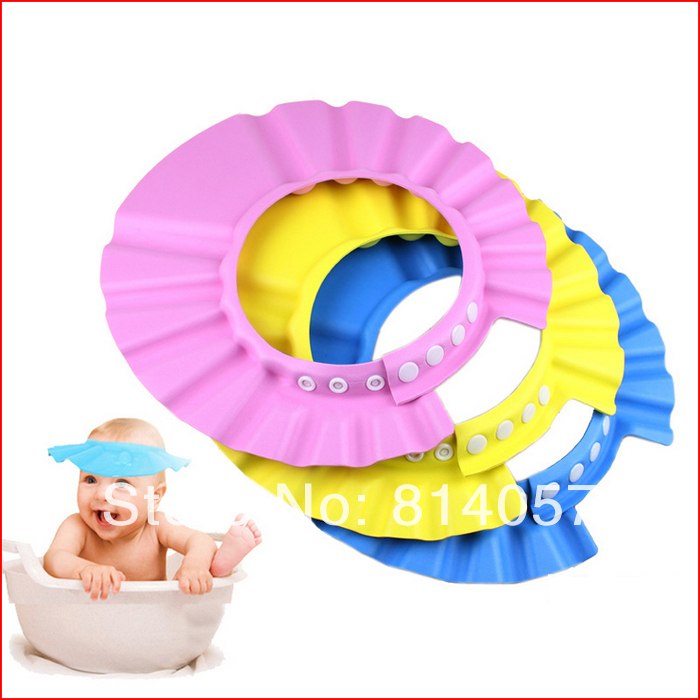 adjustable baby shower cap waterproof bath baby shower cap