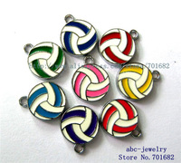 wholesales price 100Pcs mix color zinc alloy volleyball hang Pendant DIY accessory freeshipping