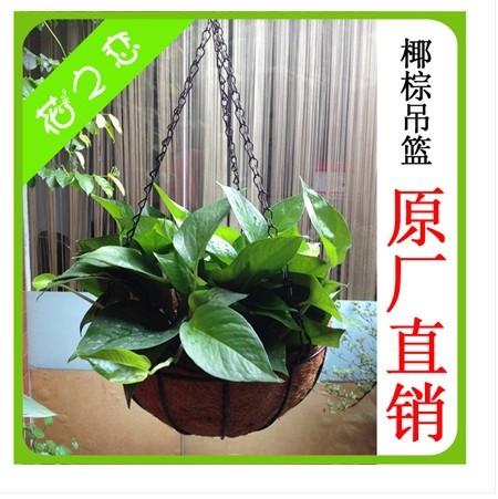 flower pot rattan coconut fiber pots upside-down hanging potplant pot pots Flowerpot plus metal framework plus chain 30cm0.37kg(China (Mainland))