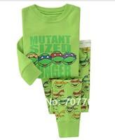 BABY & kids Long sleeve Cartoon Teenage Mutant Ninja Turtles Boys Girl suit sleepwear baby pyjamas Long Sleeve Clothing set