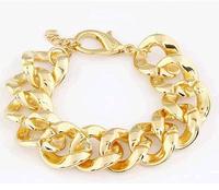 New 2014 Gold Aluminum Unisex Thick Chain Friendship Bracelets for women