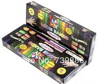 Free Shipping Loom Bands set Fun Loom Rubber Kit DIY Bracelets Colorful Children Toy Gift For Charm Bracelet Bangle