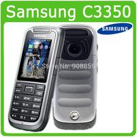 Original Samsung C3350 Unlocked cell phone GSM GPS 2MP Free Shipping Refurbished
