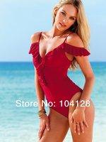 2014 new one-piece swimsuit swimwear women one piece swimsuit with skirts flounce ruffled sexy one piece swim suits onepiece #05